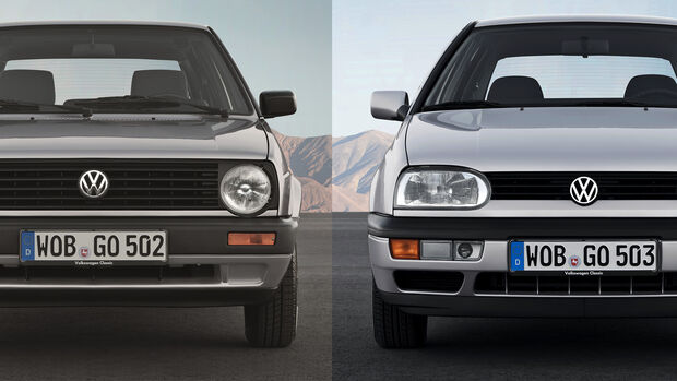 VW Golf II und III Aero Vergleich