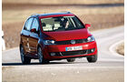 VW Golf Plus 1.4 TSI, Frontansicht, Kurve