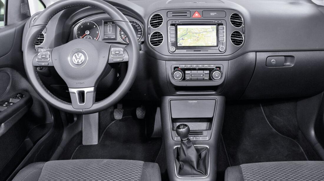 VW Golf Plus 1.6 TDI BMT, Cockpit, Lenkrad