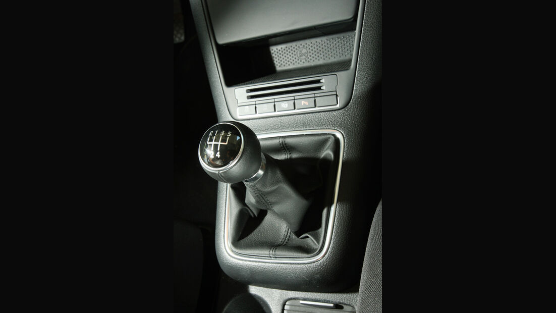 VW Golf Plus 1.6 TDI BMT, Schalthebel, Schaltknauf