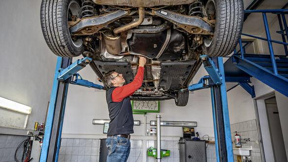 VW Golf Plus, Werkstatt