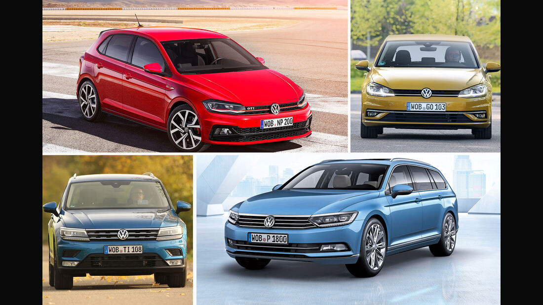 VW Golf, Polo, Tiguan, Passat