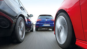 VW Golf R, Audi S3 Sportback, BMW M135i xDRIVE,