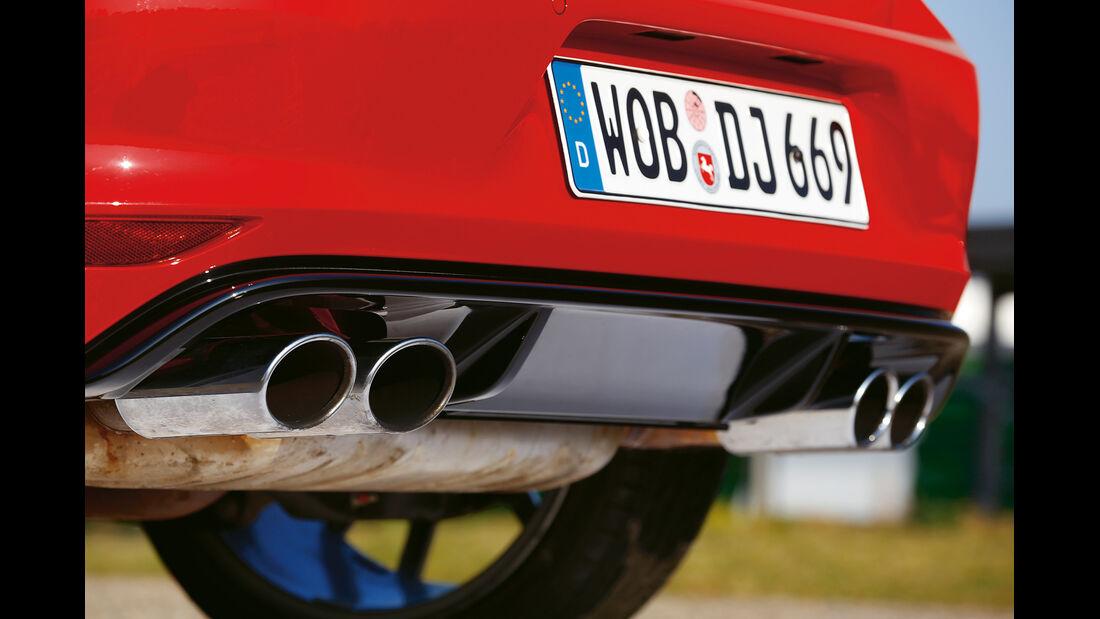 VW Golf R, Auspuff, Endrohre