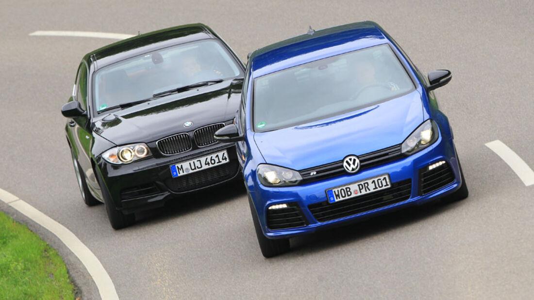 VW Golf R, BMW 135i Coupé