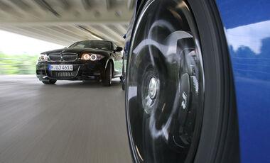 VW Golf R, BMW 135i Coupé, Felge, Bremse
