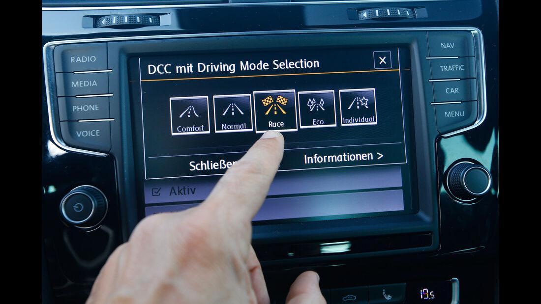 VW Golf R, Bedienelemente