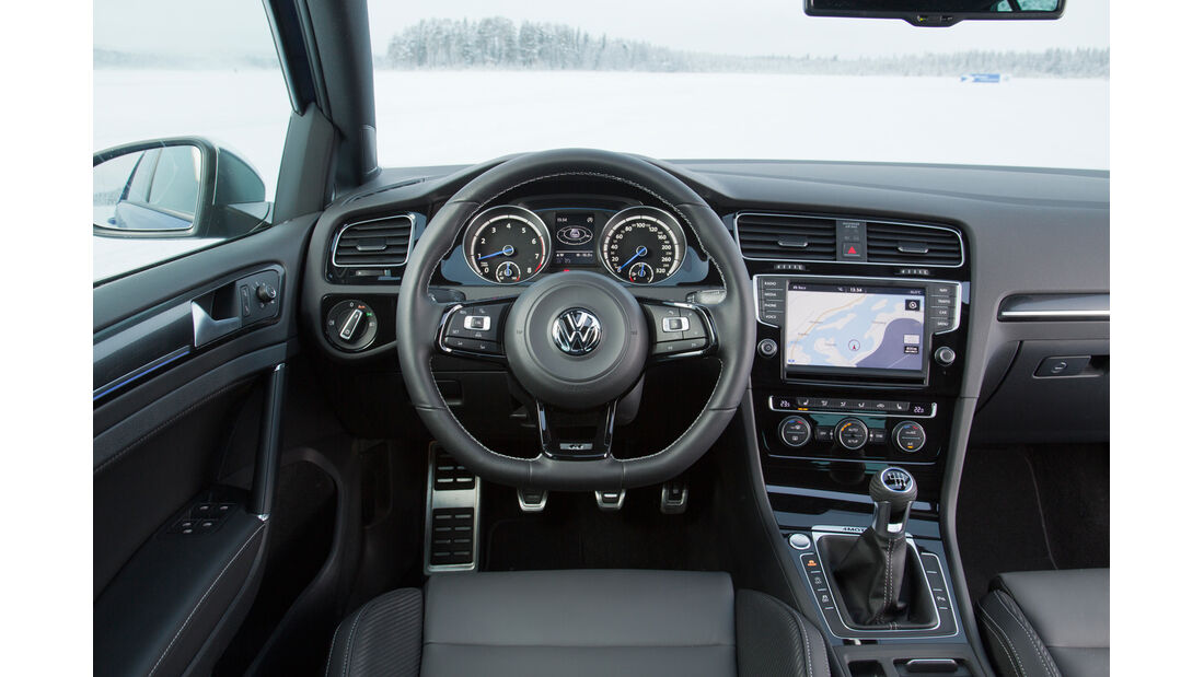 VW Golf R, Cockpit, Lenkrad
