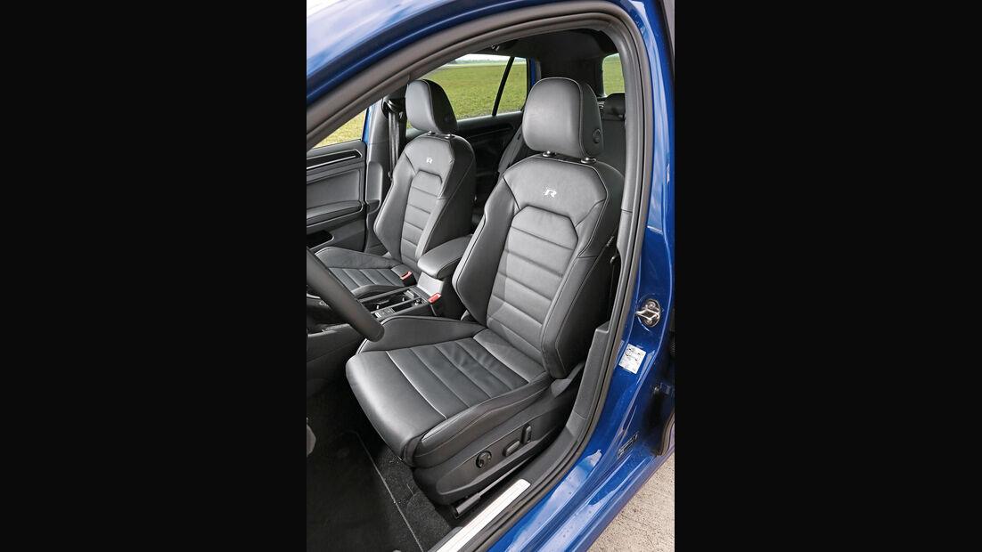 VW Golf R, Fahrersitz