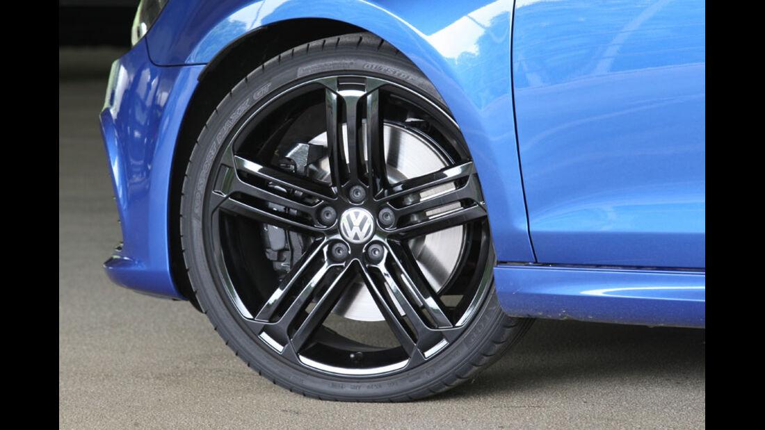 VW Golf R, Felge, Bremse