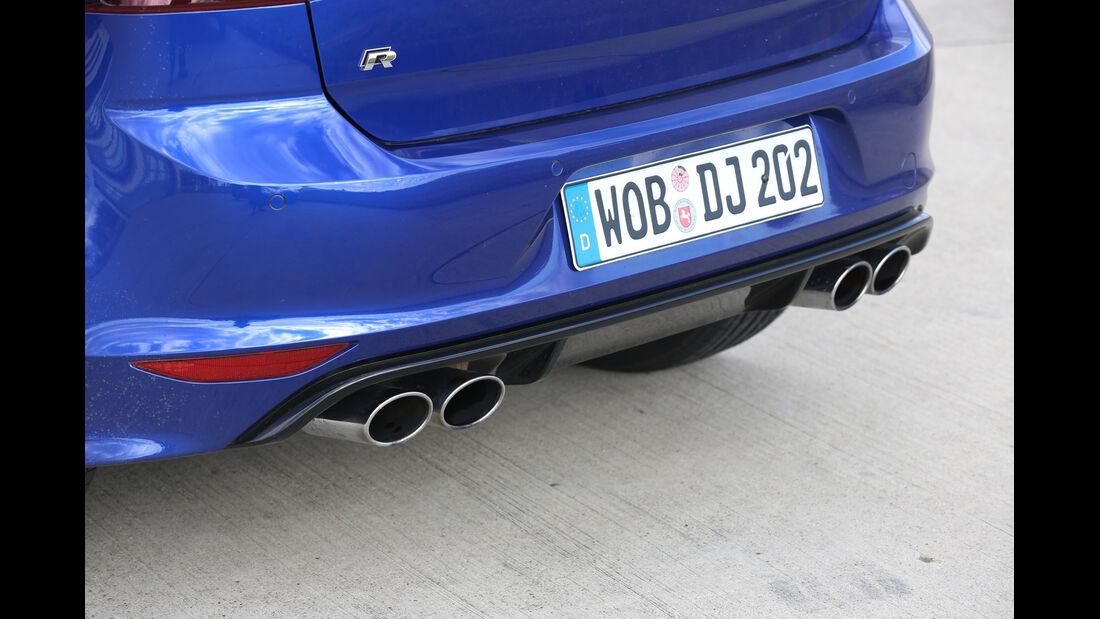 VW Golf R, Heck