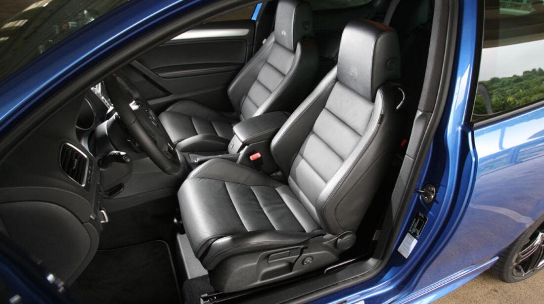 VW Golf R, Innenraum, Sportsitze