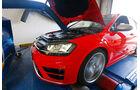 VW Golf R, Leistungsmessung