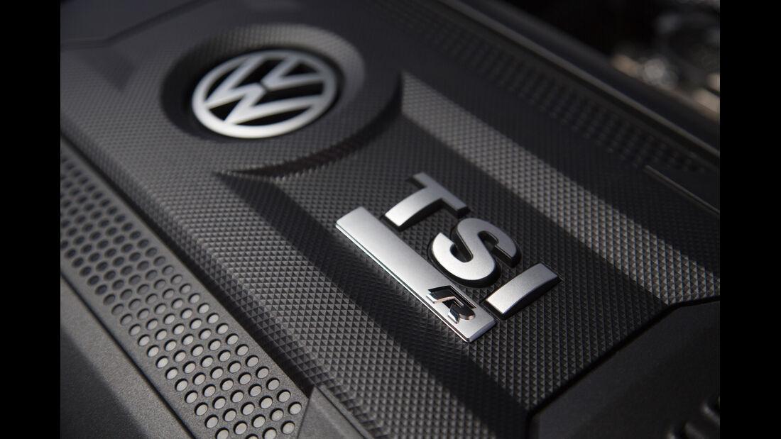 VW Golf R, Motorbeschriftung