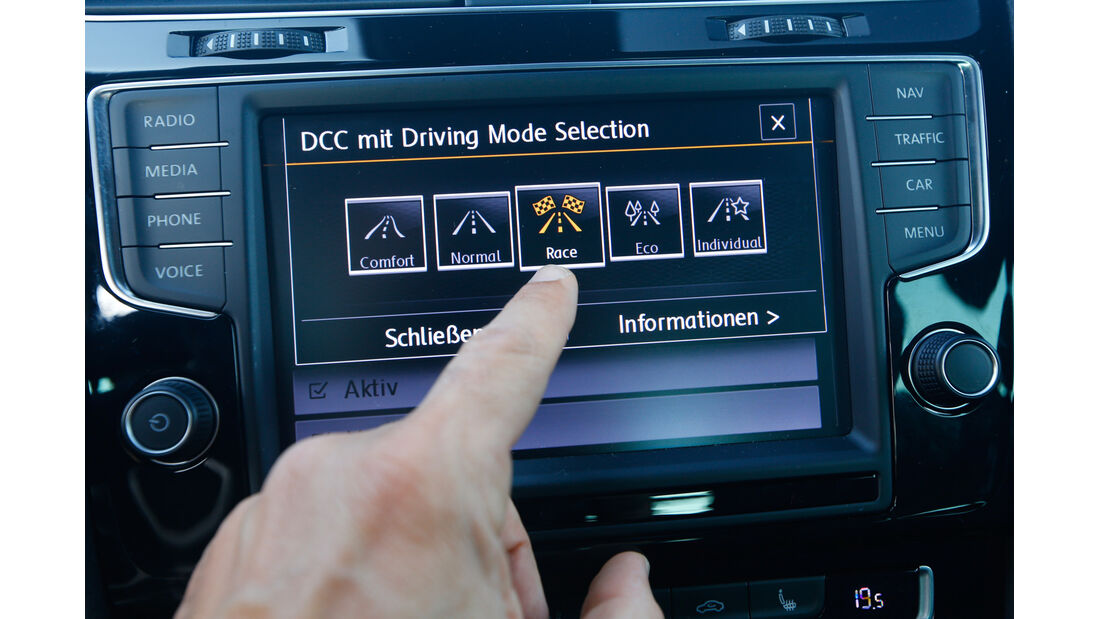 VW Golf R, Rad, Infotainment