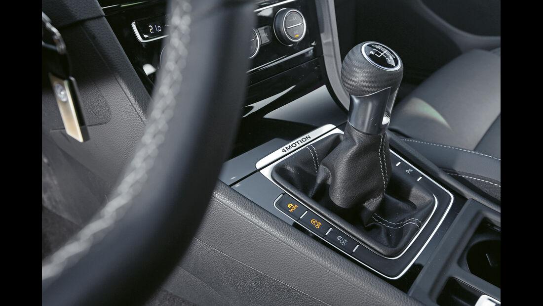 VW Golf R, Schalthebel