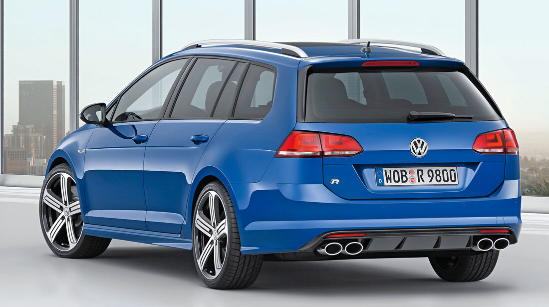VW Golf R Variant, Heckansicht