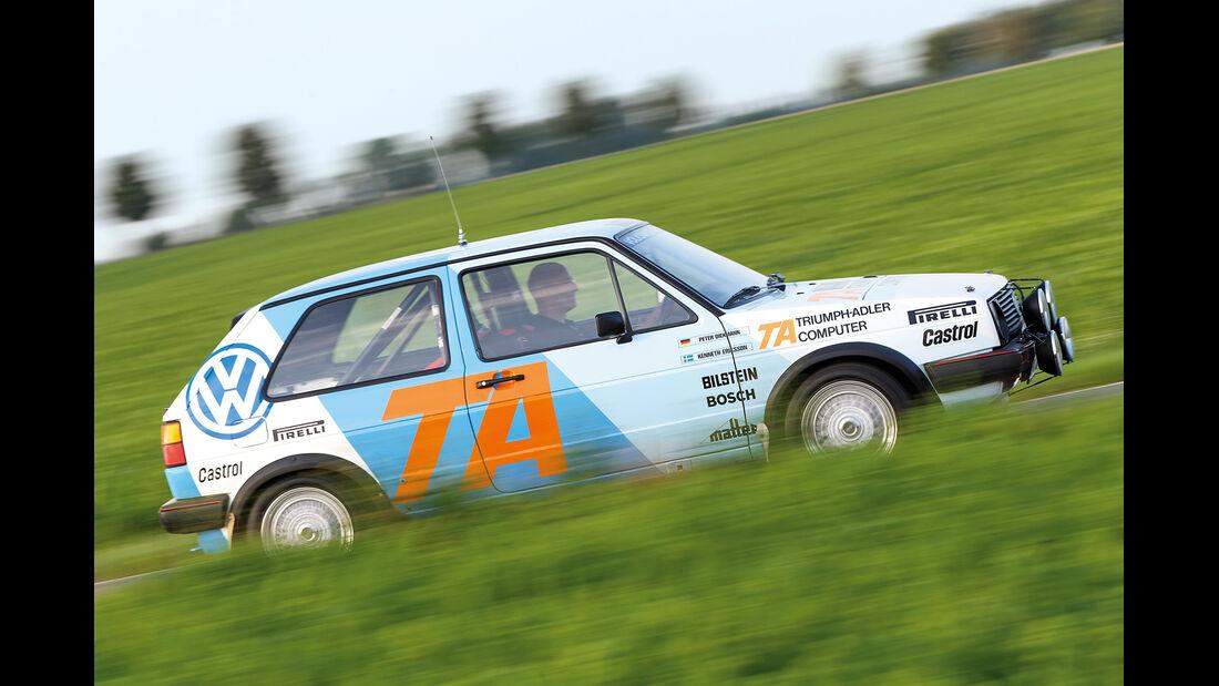 VW Golf Rallye-GTI, Seitenansicht