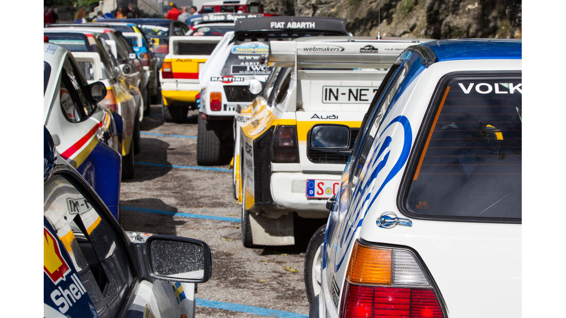 VW Golf, Rennszene, Rally Legend, Teilnehmerfeld