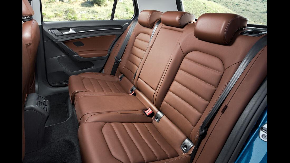 VW Golf, Rücksitz