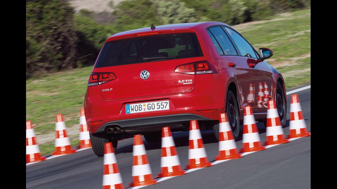 VW Golf, Sommerreifentest, Bremstest
