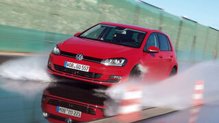 VW Golf, Sommerreifentest, Nasshandling