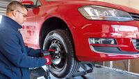 VW Golf, Sommerreifentest, Radwechsel