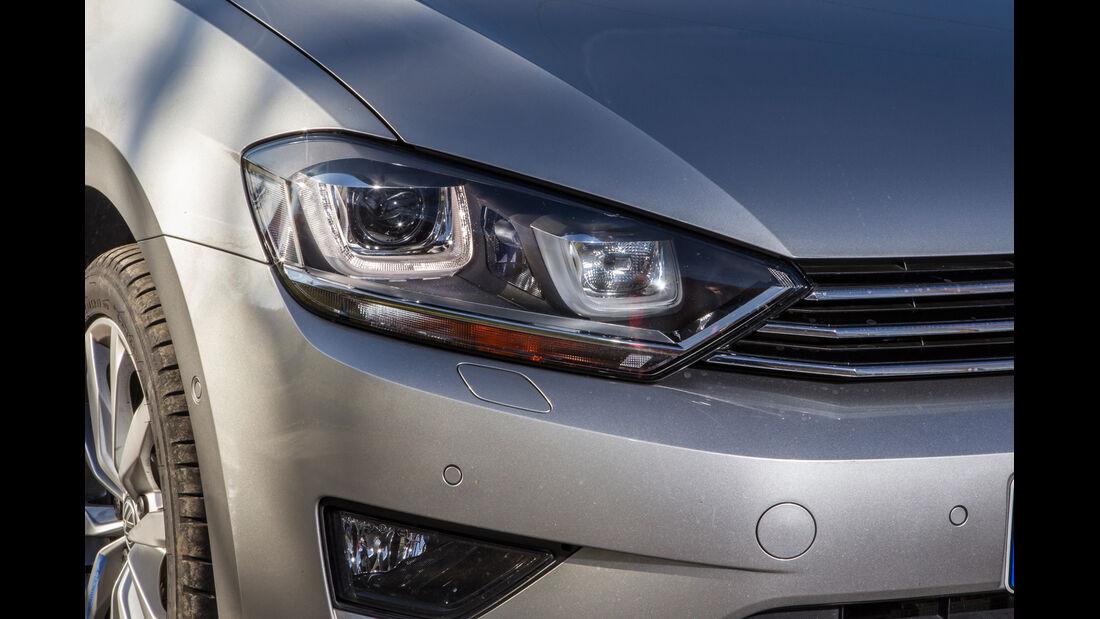 VW Golf Sportsvan 2.0 TDI, Frontscheinwerfer