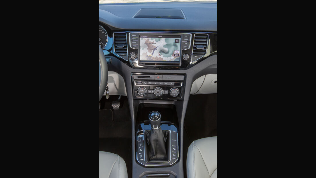 VW Golf Sportsvan 2.0 TDI, Mittelkonsole
