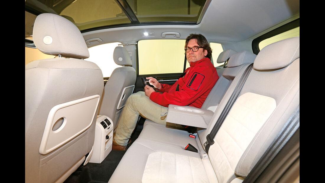 VW Golf Sportsvan, Fondsitz, Beinfreiheit