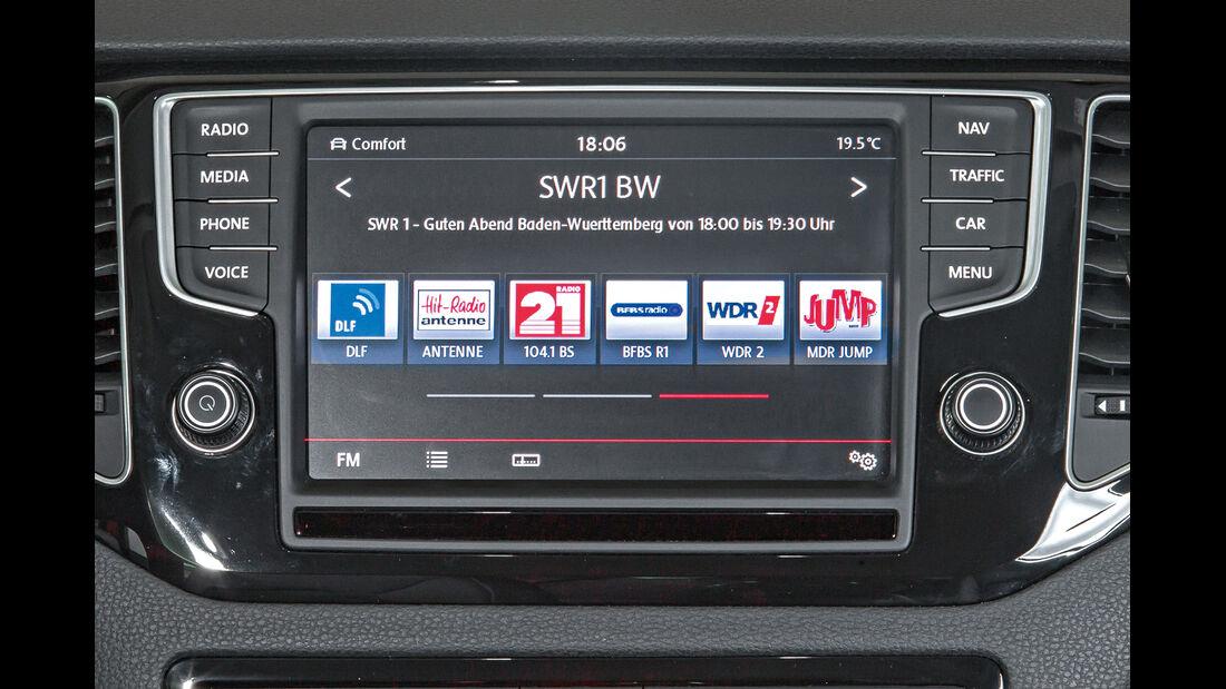 VW Golf Sportsvan, Radio