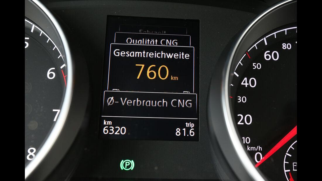 VW Golf TGI Blue Motion, Display, Anzeige, Info