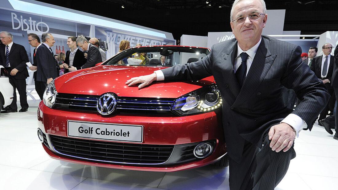 VW Golf VI Cabrio, Genf 2011, Martin Winterkorn