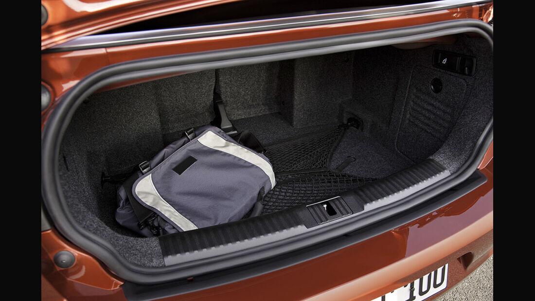 VW Golf VI Cabrio, Kofferraum