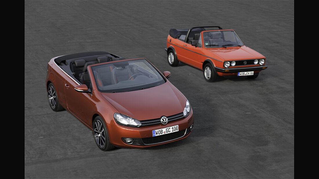 VW Golf VI Cabrio, VW Golf I Cabrio