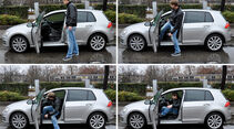VW Golf VII, Einstieg
