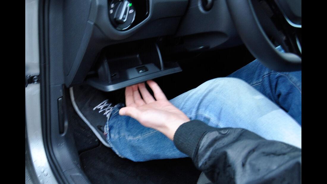 VW Golf VII, Innenraum, Ablage