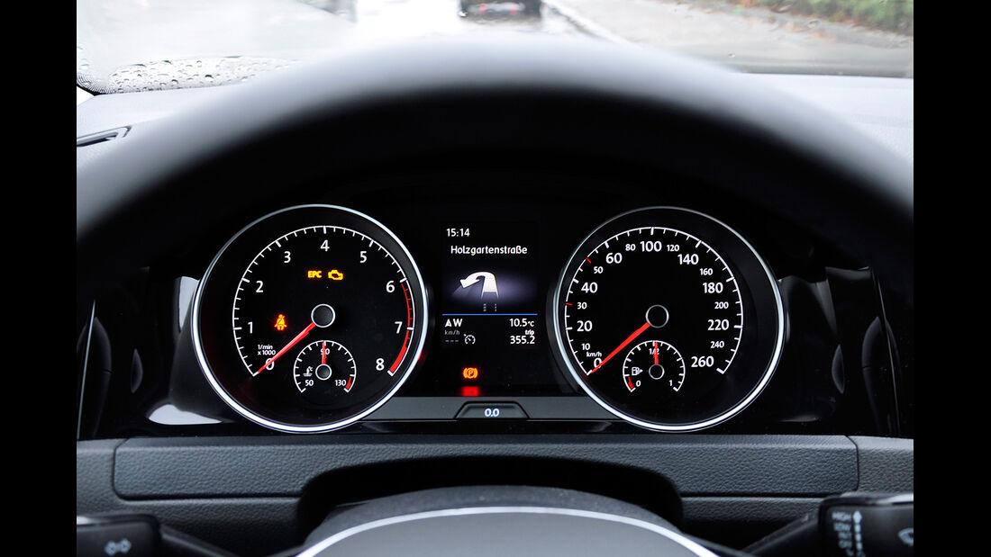 VW Golf VII, Innenraum, Cockpit, Instrumente