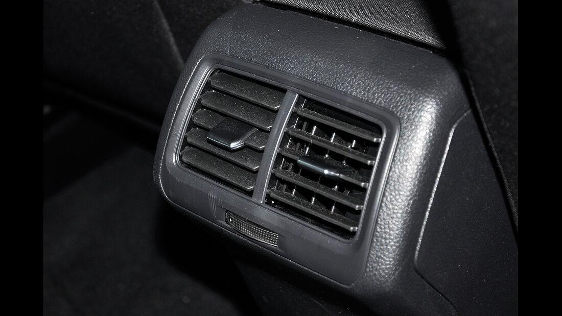 VW Golf VII, Innenraum, Fond, Belüftung