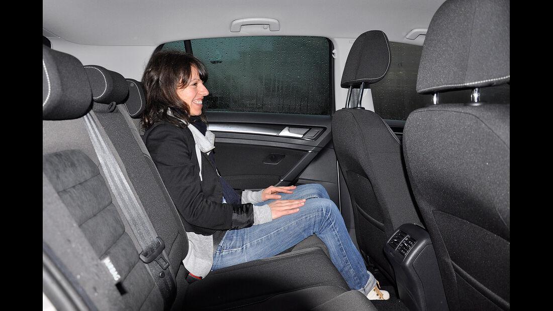 VW Golf VII, Innenraum, Fond, Rückbank