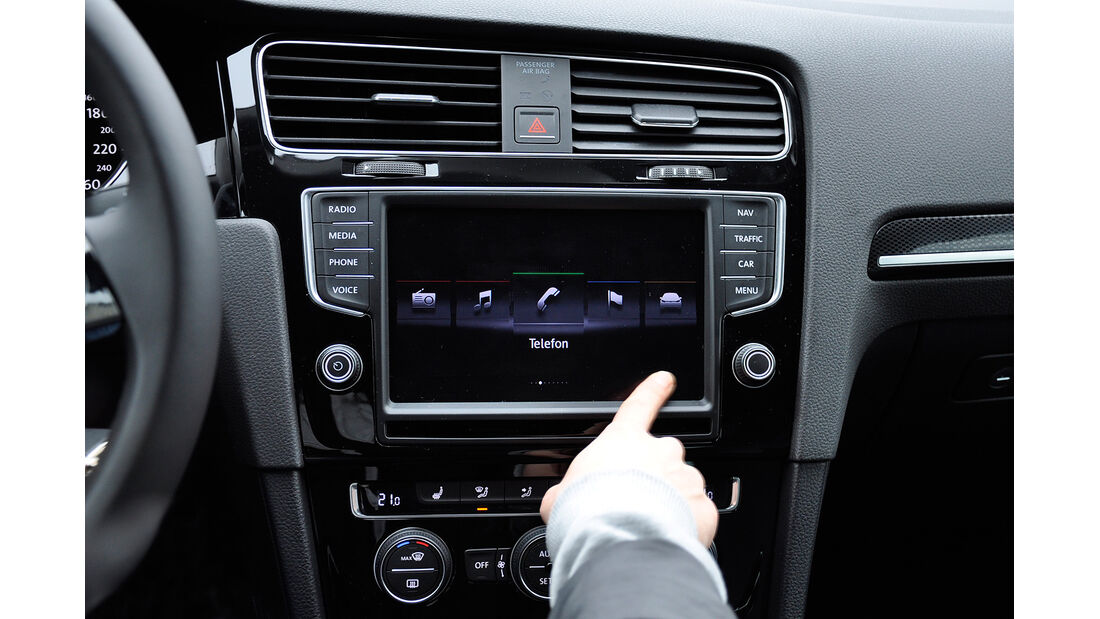 VW Golf VII, Innenraum, Infotainmentsystem