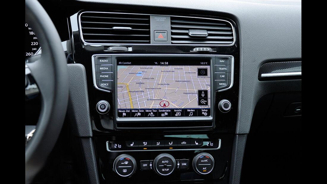 VW Golf VII, Innenraum, Infotainmentsystem, Navigation