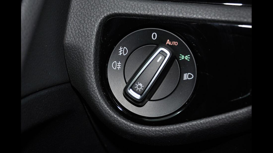 VW Golf VII, Innenraum, Lichtschalter