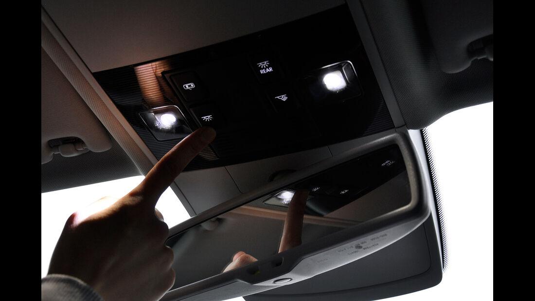 VW Golf VII, Innenraum, Rückspiegel, Beleuchtung