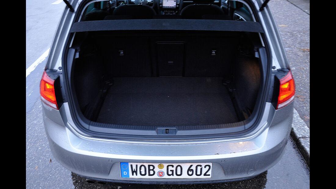 VW Golf VII, Kofferraum