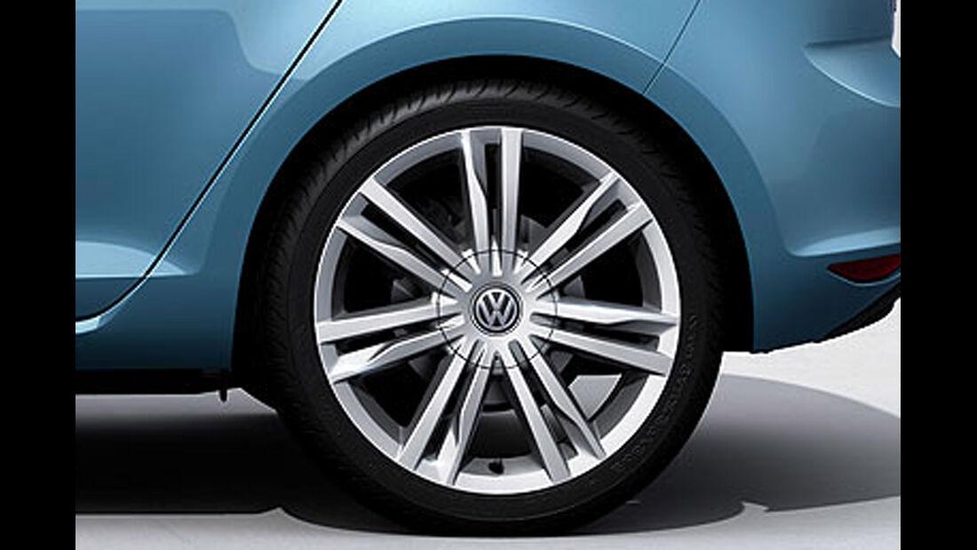 VW Golf VII, Leichtmetallfelge