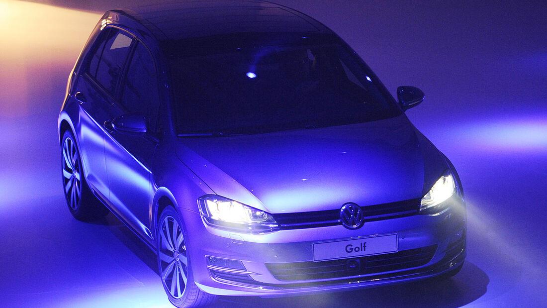 VW Golf VII, VW Konzernabend, Autosalon Paris 2012