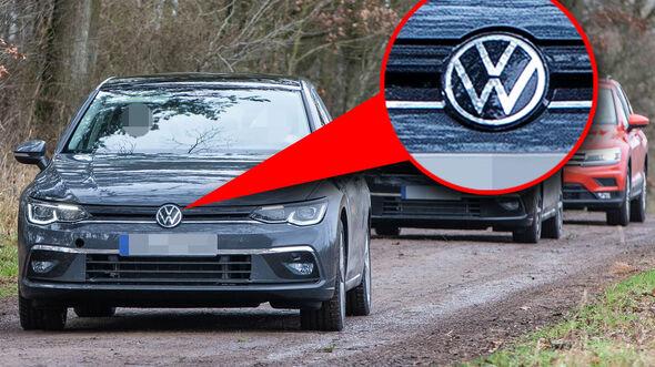 VW Golf VIII Logo Lupe