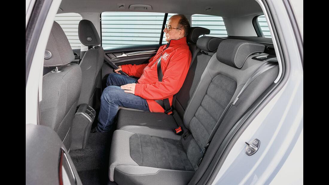 VW Golf Variant 2.0 TDI 4Motion, Fondsitze