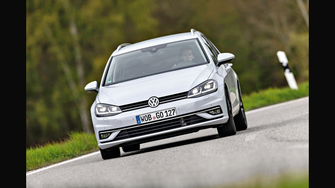 VW Golf Variant 2.0 TDI 4Motion, Frontansicht